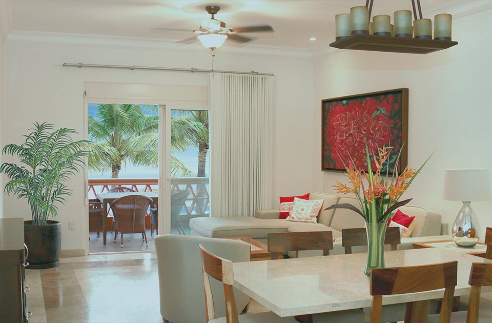 3 bedroom condo dining room